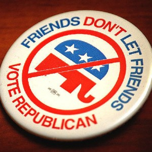 No Republicans Button