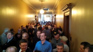 Here's what the anti-reform crowd looked like at the Senate Judiciary Hearing last Thursday.