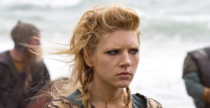 Lagertha (Kathryn Winnick) raiding England. (via History Channel)