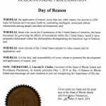 Governor Chafee proclaims May 1st 'Day of Reason'