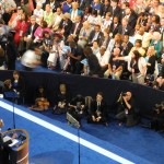 President Obama makes his case for re-election at DNC. (Photo by John McDaid)