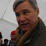 Sen. Sheldon Whitehouse at Forward on Climate rally. (Photo by Jack McDaid.)