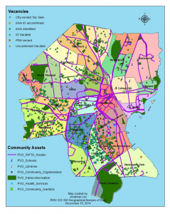neighborhood map of providence showing locations of real estate in some form of vacancy, foreclosure or abandonment
