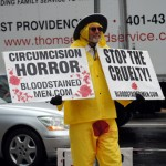 Bloodstained Men confront circumcision in Providence