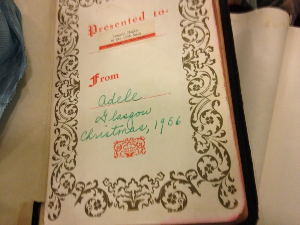 Bible signed by Langston Hughes.