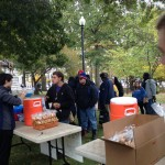 Activists drop Food Not Bombs on homeless people in Burnside Park
