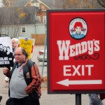 Fast food workers rally for $15 and a union at Wendy's in Warwick