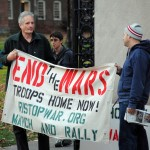 Jack Reed avoids peace activists at Brown