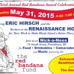 Red Bandana Fund to honor Eric Hirsch and Renaissance workers this Sunday