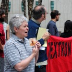 Quakers, radicals, others protest Textron cluster bombs