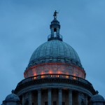 State House illuminated orange for gun violence awareness