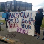 Demonstrators tell National Grid: #NOLNGinPVD