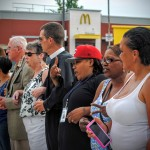 Locking arms for peace in South Providence