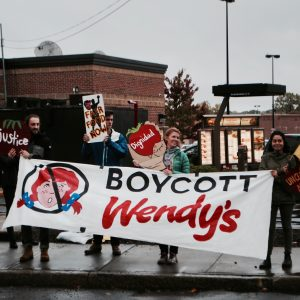 Boycott Wendy's protest in Providence