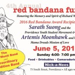 Red Bandana Fund to honor local activists Sunday