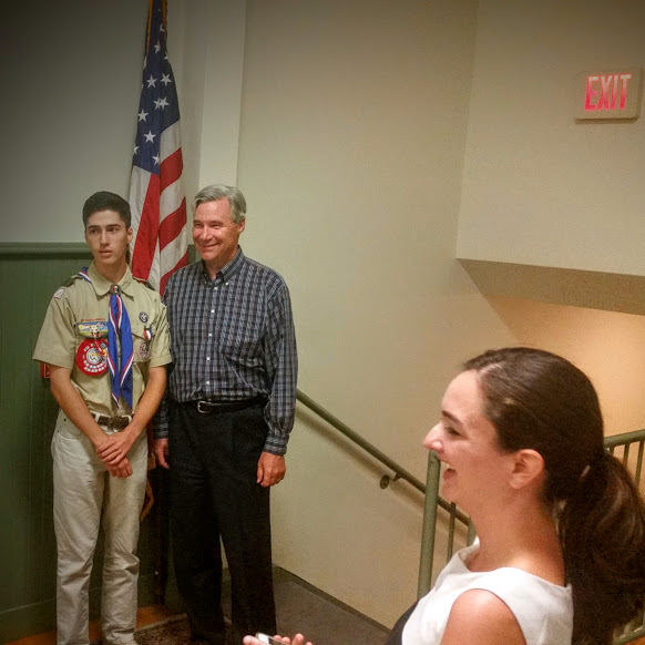 Eagle Scout James Lawless with Whitehouse