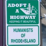 Local humanists adopt road in Cranston