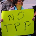Protest against the Trans Pacific Partnership in Providence