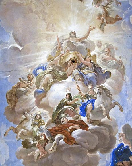 Apotheosis of the Medici by Luca Giordano (1672)