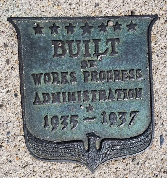 BUILT BY WORKS PROGRESS ADMINISTRATION 1935-1937 b