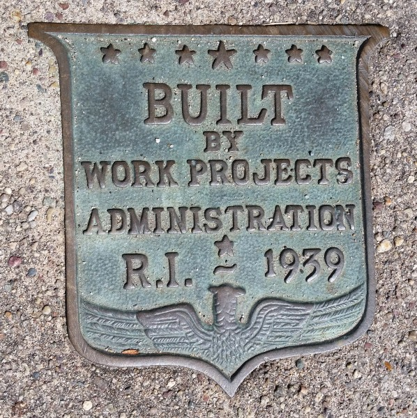 BUILT BY WORKS PROJECTS ADMINISTRATION RI 1939 b