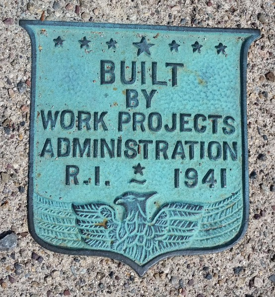 BUILT BY WORKS PROJECTS ADMINISTRATION RI 1941 a