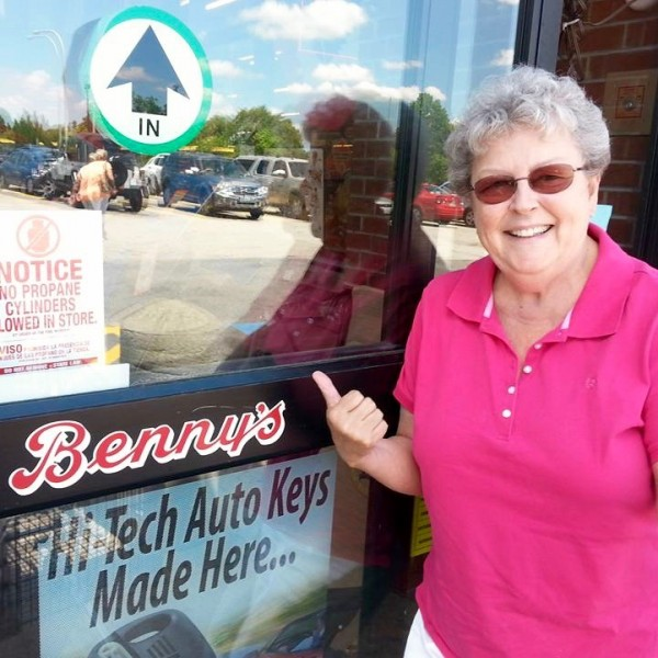 Sister Mary Pendergast supporting Benny's and Sal