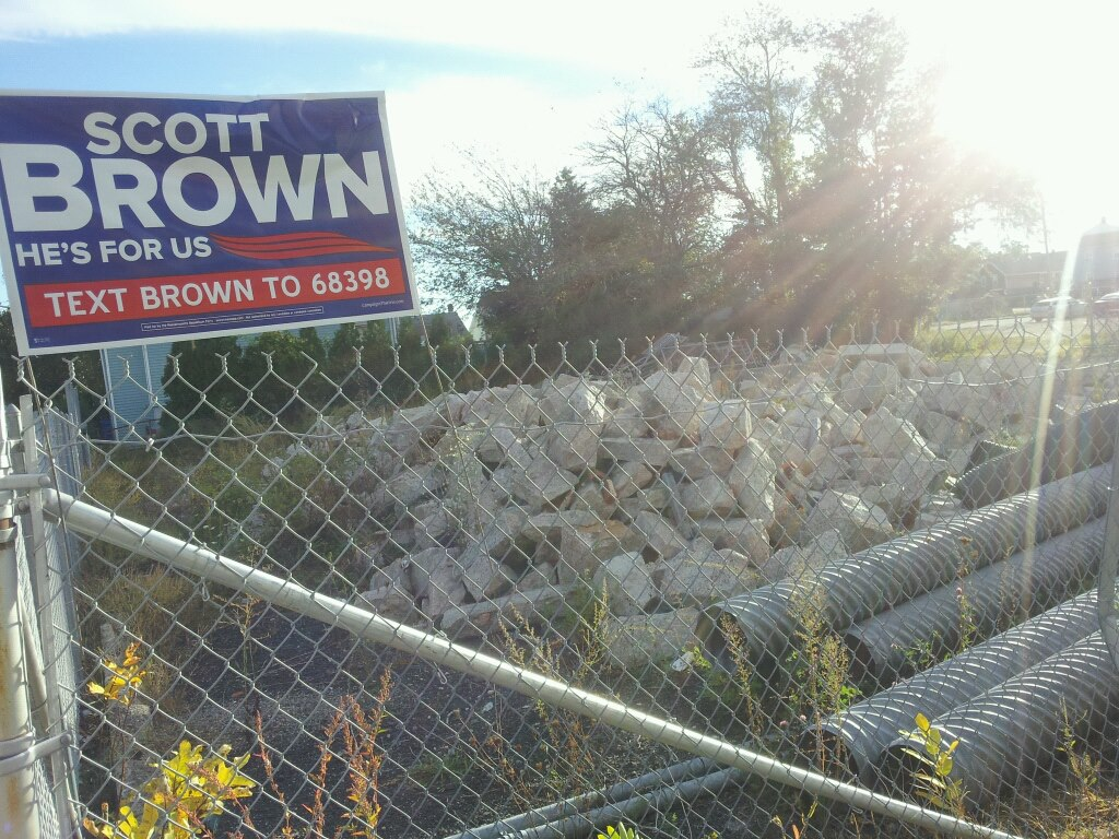 Brown pile of rubble