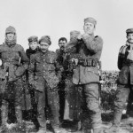 Soldiers of the 134 Saxon Regiment (Germany) & the Royal Warwickshire Regiment (UK) on 12/26/1914