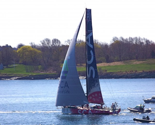 Team SCA, sailing through the East Passage