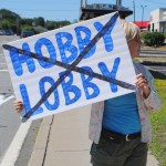 Hobby Lobby protest draws a line in the sand