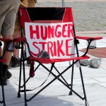 Hotel hunger strike begins as Senate quickly passes budget