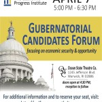 Economic Progress Institute's candidate forum tonight in Warick