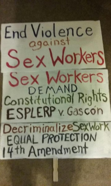 End Violence Sex Workers Sign