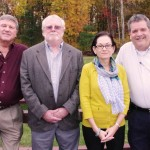 The Exeter Four, left to right: Cal Ellis, Bill Monahan, Council President Arlene Hicks and Bob Johnson.