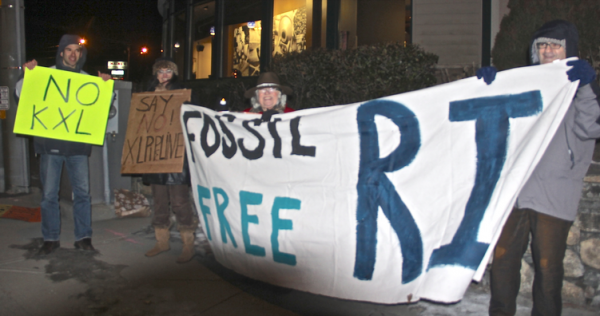 Wakefield Vigil Against Keystone XL -- February 24, 2014