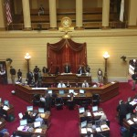The RI House of Representatives before convening on the floor on June 11, 2015