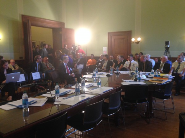 The Senate Lounge was standing room only before and during the hearing.