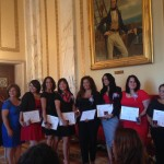 Graduates of the Latina Leadership Institute with Secretary of State Nellie Gorbea, and LLI Program Coordinators