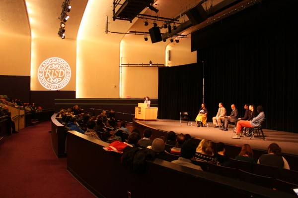 The panel discussion had an audience of about one hundred people.
