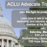 Saturday: ACLU advocate training day