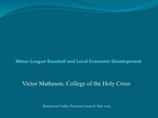 Minor League Baseball - Blackstone Valley 2015 -May.001