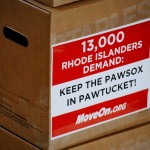 State House leaders presented 13,000 signatures opposed to PawSox move