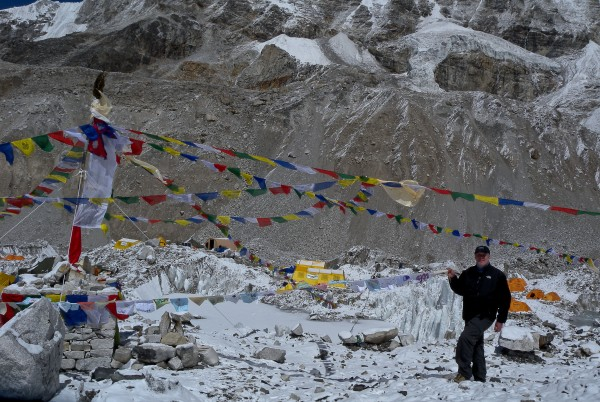 Photographer David Pinkham w CommPrep Peace Flags - Nepal