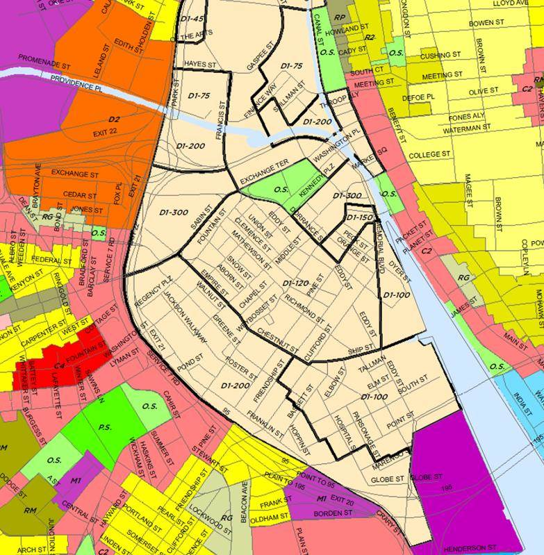 Map Of Downtown Providence Rhode Island Rebuilding Rhode Island's Economy, Part 3: Densifying Downtown