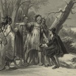 Roger Williams and the Narragansetts, as published in 1856, 170+ years after Williams&#039; death. (Via Wikimedia Commons)