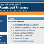 Department of Revenue website links to corporate lobby group