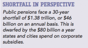 """From """"The Plot Against Pensions"""" by David Sirota."""