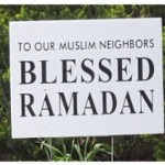 RI State Council of Churches distributes signs with holiday message to RI Muslim Community