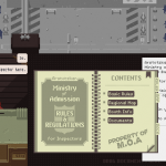 A screenshot from Papers, Please (via paperplea.se)